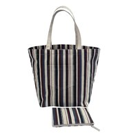 12 Oz Natural Canvas Shopping Bag With Travel Zipper Pouch