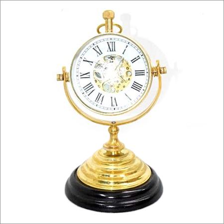 Machenical Desktop Wooden Base Clock