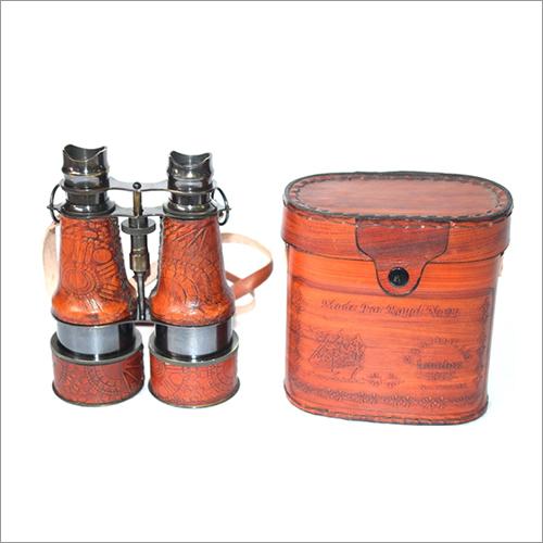 Binocular With Leather Box