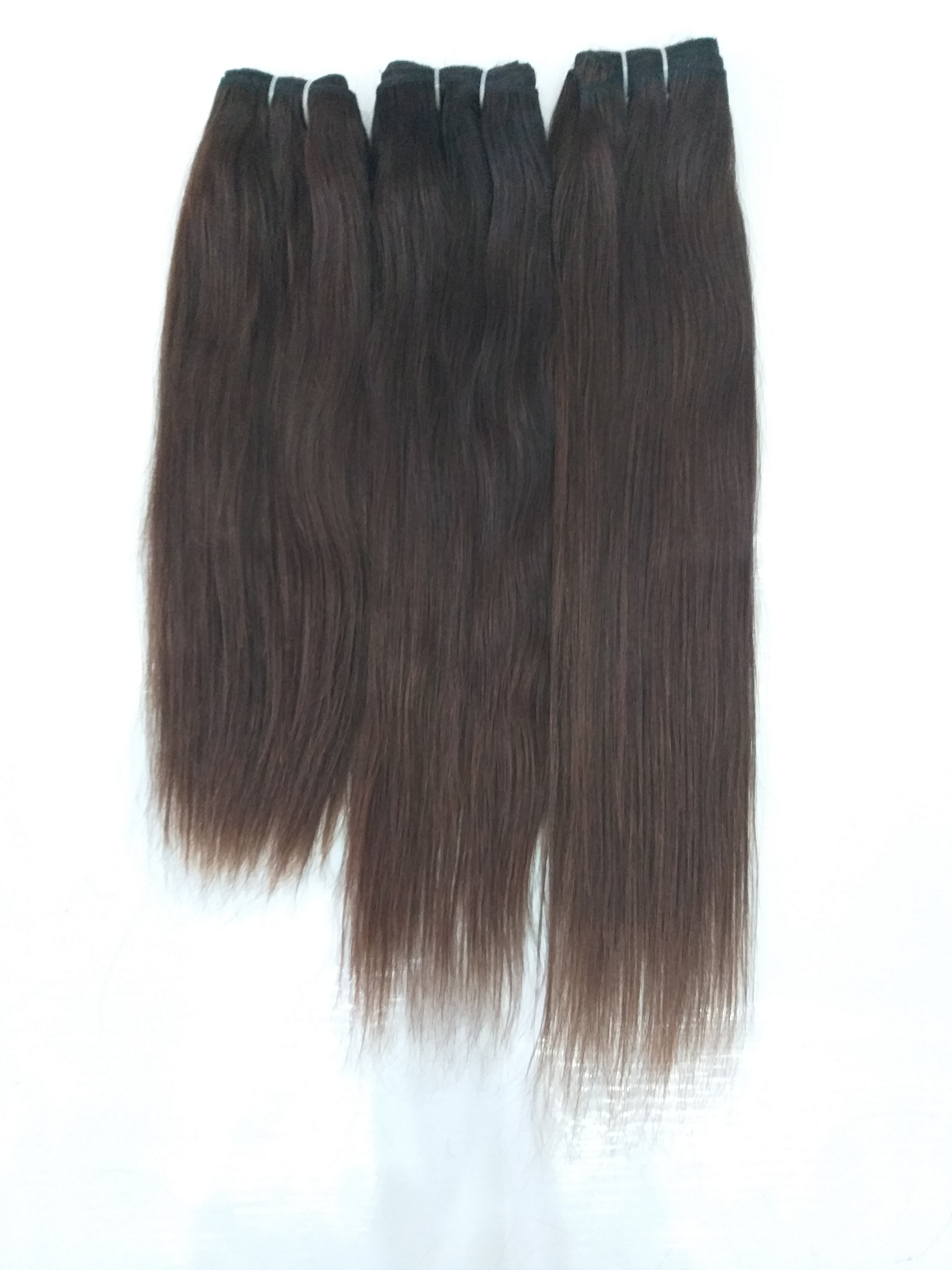 Straight Human Hair Weaves, Unprocessed  Human Hair Extensions