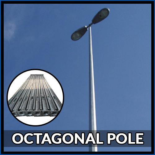 3 Mtr Octagonal Pole