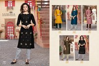 Sitara Chinon Embroidery Sequence Work Kurtis
