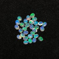 4x5mm Ethiopian Opal Faceted Oval Loose Gemstones