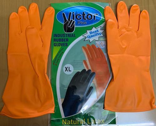 victor plus orange  hand gloves