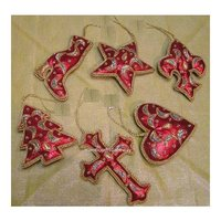 Hand Embroidery Christmas Hanging Ornament