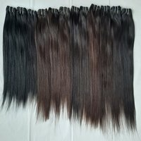 Machine Double Weft Remy Straight Hair,natural Color