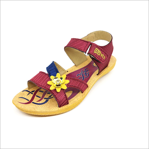 Beez and Mehroon Girls Casual Sandals