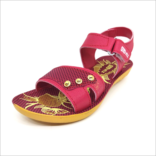 Beez and Red Girls Fancy Sandals