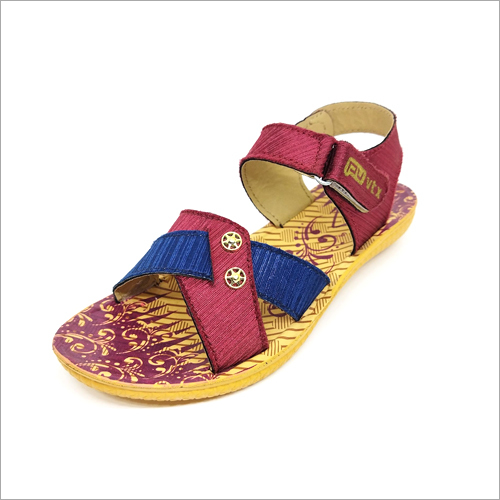 Beez and Mehroon Girls Lightweight Sandals