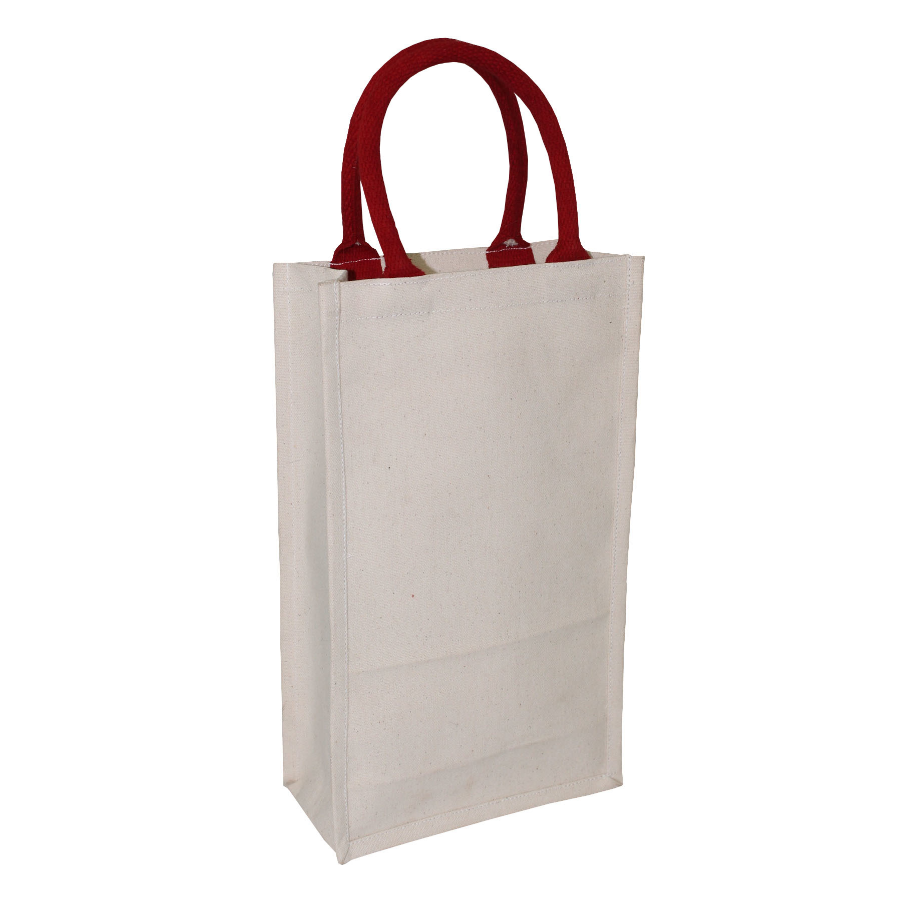 10 Oz Pp Laminated Natural Canvas Tote Bag With Rope Handle