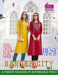 Gardencity Vol-9 Heavy Rayon Print Kurtis Set