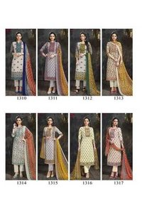 Khwaab Cotton Slub Print Dress Materials