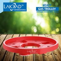 Gas Cylinder Trolley Stand With Movable Wheels