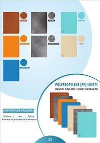 32Polypropylene (PP) Sheets (Multi Color-Multi Design)