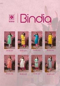 Bindia Vol 2  Pure Cotton Rayon Thread Work Kurtis