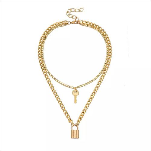 Ladies Lock And Key Pendant