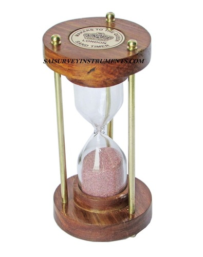 Wood & Brass Sand Timer (3 Minutes)