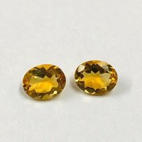 8x10mm Citrine Faceted Oval Loose Gemstones