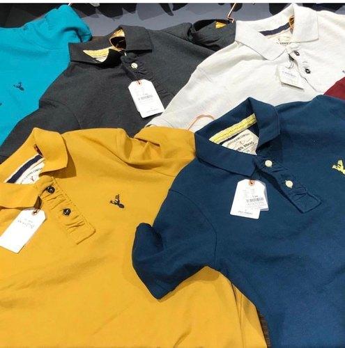 Branded Mens Collar Neck  T-Shirt