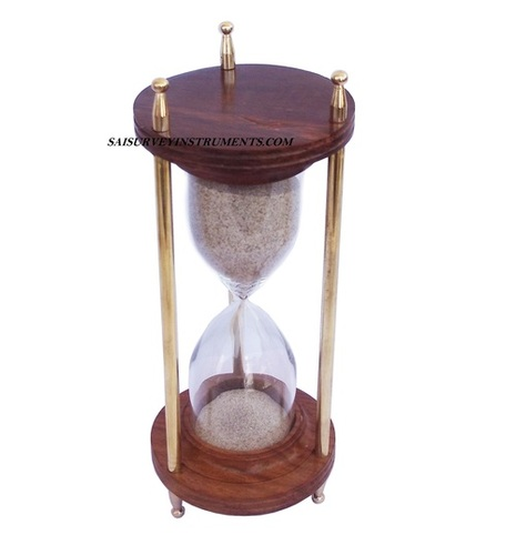 5 Minute Marine Sand Timer Made of Wood