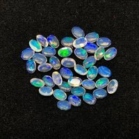 5x7mm Ethiopian Opal Faceted Oval Loose Gemstones