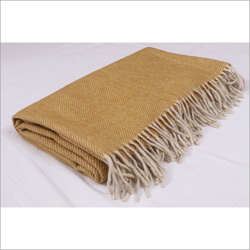 Mustard Herringbones Blankets