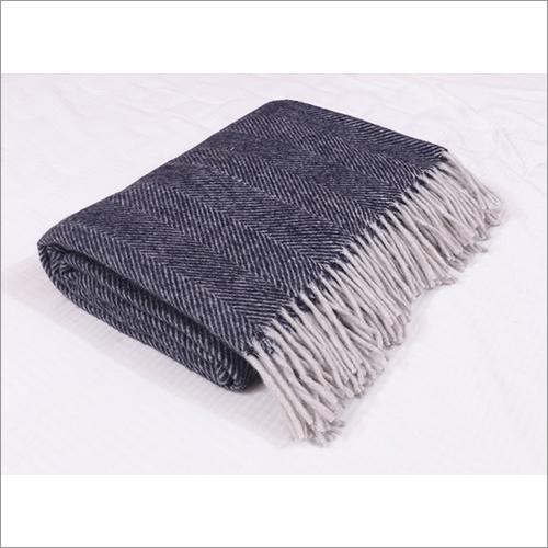 Navy Herringbones Blankets