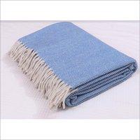 Sky Blue Herringbones Blankets