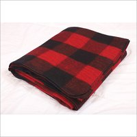 Buffalo Check Red and Black Military Blankets
