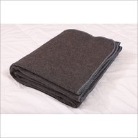 Grey With Blue Hemming Military Blankets