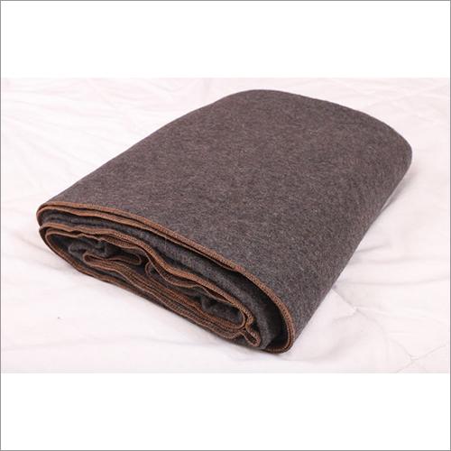 Grey With Orange Hemming Blankets