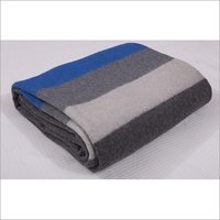 Grey With Stripes Military Blankets