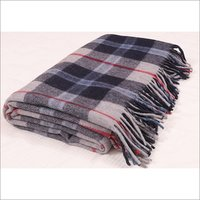 Douglas Navy Tartan Blankets