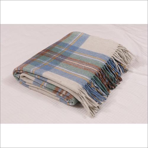 Stewart Muted Blue Tartan Blankets