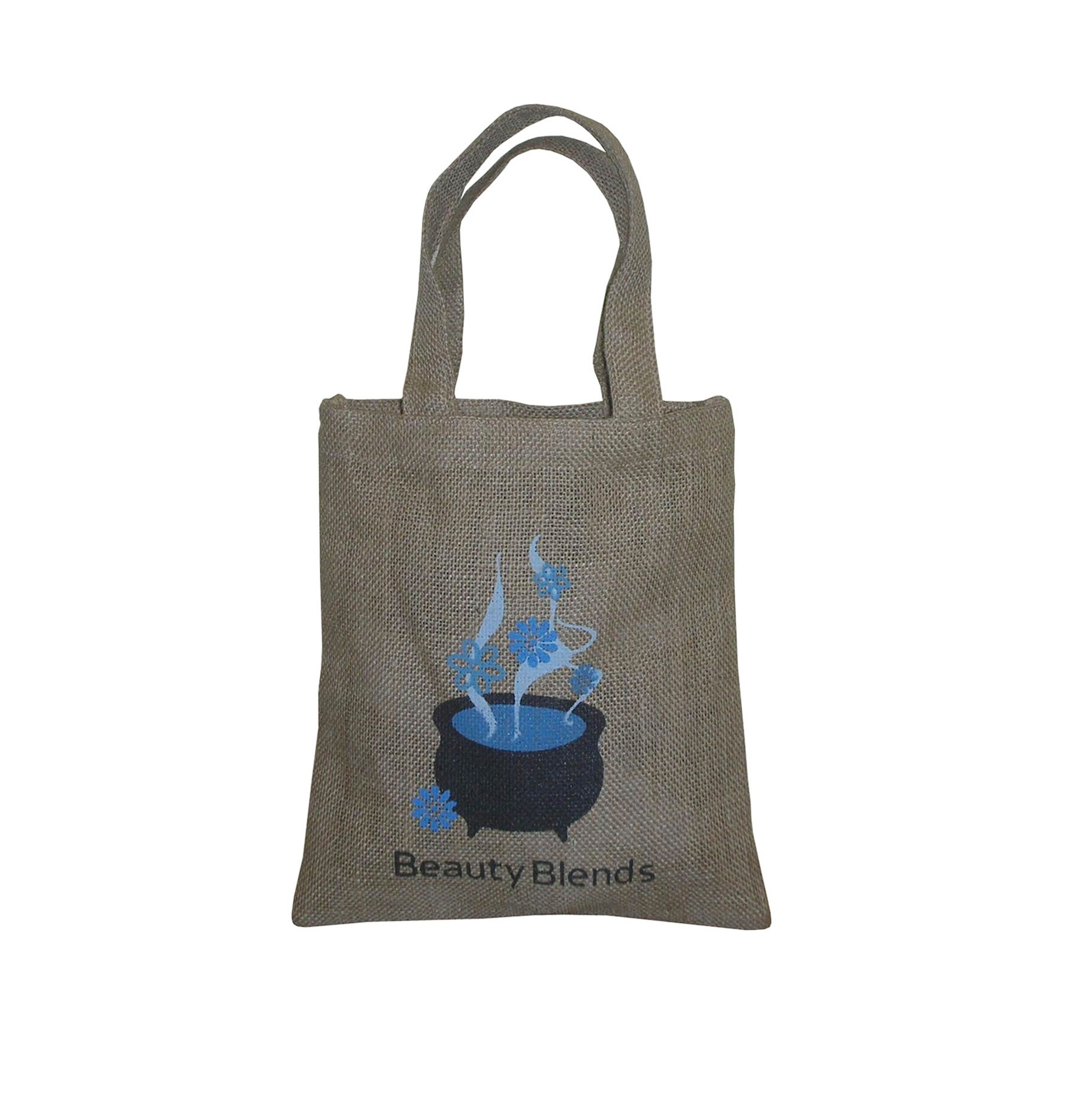 Natural Color Jute Grocery Bag With Self Handle