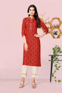 Pant Vol 5 Rayon, Cotton Flex Kurtis With Pants