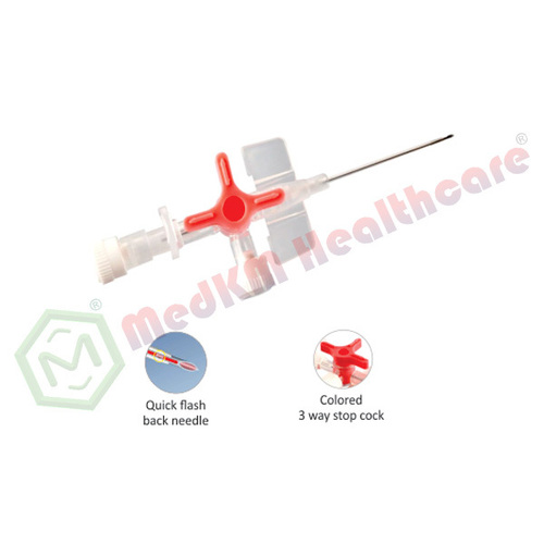 IV Cannula/catheter With Integrated 3 Way Stop CockIV Cannula/catheter With Integrated 3 Way Stop Cock