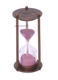 Brown Antique Nautical Sand Timer