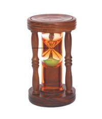 Wooden Sand Timer with Green Sand (5 Minutes)