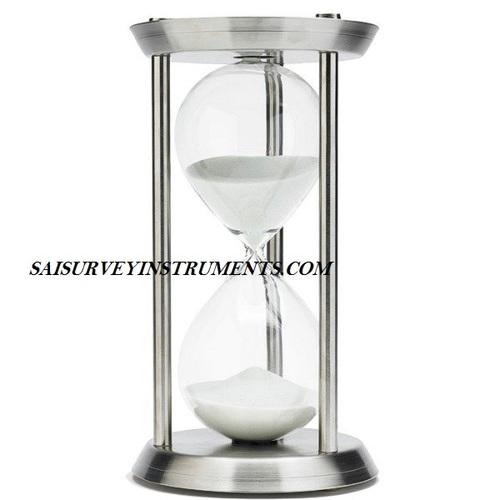 CHROME NAUTICAL SAND TIMER - 7 x 7 x 12 - (60 MIN)