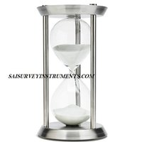 CHROME NAUTICAL SAND TIMER - 7 x 7 x 12 - (60 MIN)