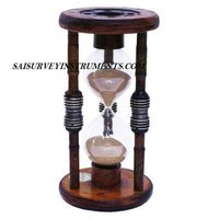 ANTIQUE WOOD HOURGLASS SAND TIMER