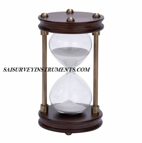 ANTIQUE WOODEN SAND TIMER - (15 MIN)