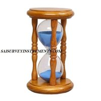 Maritime Wooden Sand Timer With Blue Sand