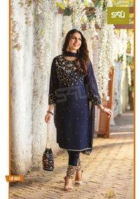 La Bella Vol 6 Readymade Party Wear Georgette Salwar Suit