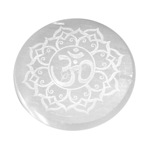 Etched Selenite Round OM