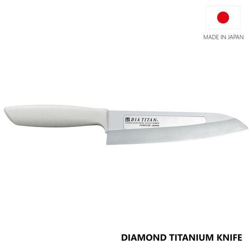 Diamond Titanium Knife with Titanium Handle 160mm