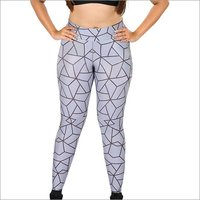 Ladies Grey Triangle Jeggings