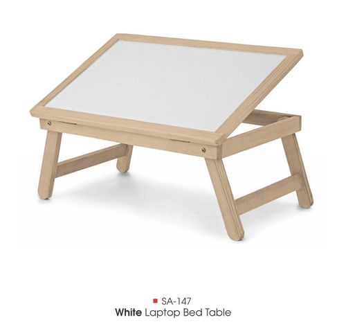 SA-147 White Laptop Bed Table