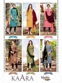 Kaara Fancy Dobby Weaving Kurtis With Pant Dupatta